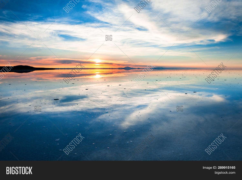 Mirror Surface Salar Image Photo Free Trial Bigstock