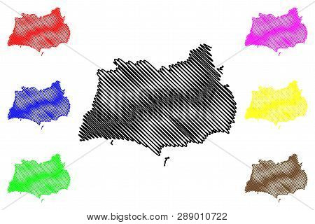 Rayong Province (kingdom Of Thailand, Siam, Provinces Of Thailand) Map Vector Illustration, Scribble