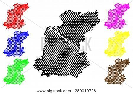 Roi Et Province (kingdom Of Thailand, Siam, Provinces Of Thailand) Map Vector Illustration, Scribble
