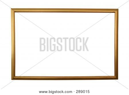 Large Golden Frame Isolated W/ Path