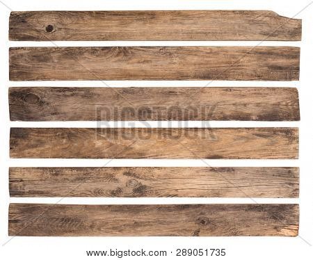 Old wooden planks isolated on wooden background
