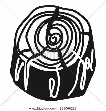 Cracked Stump Icon. Simple Illustration Of Cracked Stump Icon For Web Design Isolated On White Backg