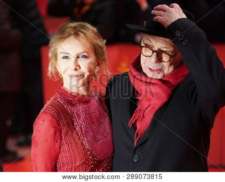 Trudie Styler, Dieter Kosslick attendsthe opening ceremony  during the 69th Berlinale International Film Festival Berlin at Berlinale Palace on February 07, 2019 in Berlin, Germany.