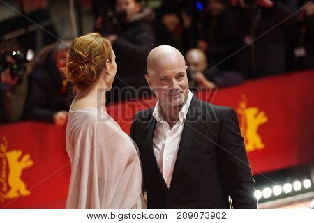 Andrea Sawatzki and Christian Berkel attend the 'The Kindness Of Strangers' premiere during the 69th Berlinale  Festival Berlin at Berlinale Palace on February 07, 2019 in Berlin, Germany