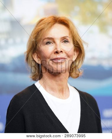 Trudie Styler attends the International Jury press conference during the 69th Berlinale International Film Festival Berlin at Grand Hyatt Hotel on February 07, 2019 in Berlin, Germany.