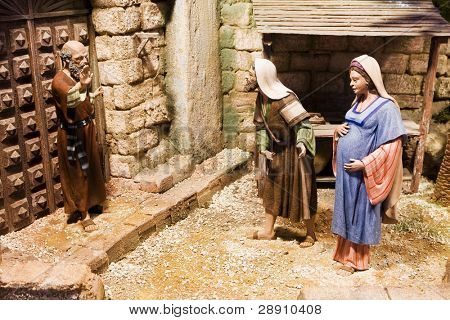 Joseph and pregnant Mary been rejected