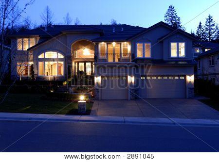 Luxury House At Dark