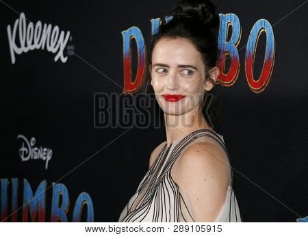 Eva Green at the World premiere of 'Dumbo' held at the El Capitan Theatre in Hollywood, USA on March 11, 2019.