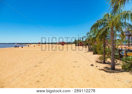 The San Jose Beach In Encarnacion In Paraguay.