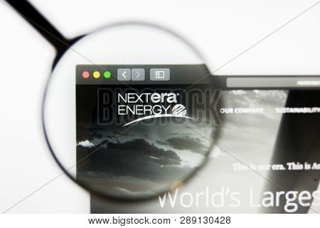 Los Angeles, California, Usa - 12 March 2019: Illustrative Editorial, Nextera Energy Website Homepag