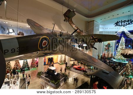 December 15, 2018, Chicago, Il British Supermarine Spitfire F Mk.ia P9306 Pursuing A German Aircraft