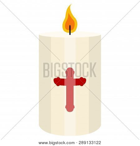 Isolated Paschal Candle Image. Vector Illustration Design