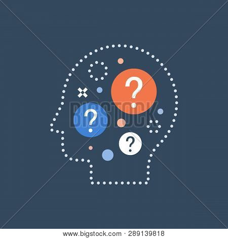 Decision Making, Difficult Choice, Behavior Science, Self Questioning, Brainstorm And Curiosity Conc
