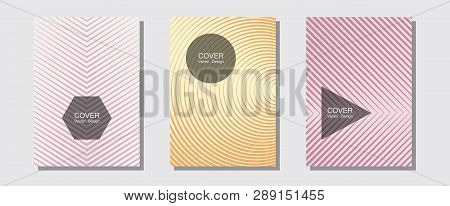Abstract Shapes Of Multiple Lines Halftone Patterns. Trendy Magazines. Halftone Lines Music Poster B