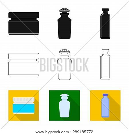 Isolated Object Of Retail And Healthcare Symbol. Set Of Retail And Wellness Stock Symbol For Web.