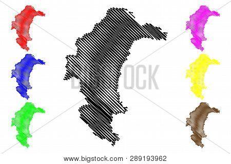 Yasothon Province (kingdom Of Thailand, Siam, Provinces Of Thailand) Map Vector Illustration, Scribb