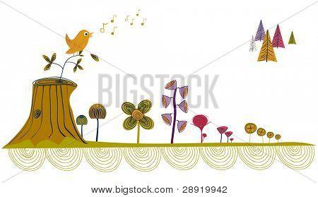 whimsical little garden