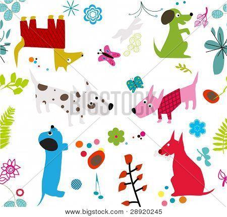 cute dogs -seamless wallpaper