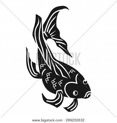 Goldfish Top View Icon Image & Photo (Free Trial)   Bigstock