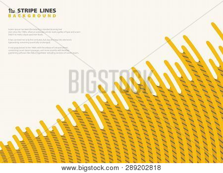 Abstract Mesh Dash Yellow With Black Stripe Lines Pattern Modern Design Background. You Can Use For
