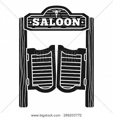 Welcome To Saloon Icon. Simple Illustration Of Welcome To Saloon Icon For Web Design Isolated On Whi