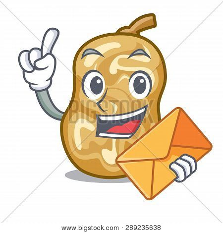 With Envelope Raisins Isolated With In The Mascot
