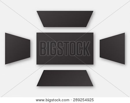 View Angle Background Set .  Computer Display Visual  Distortion.