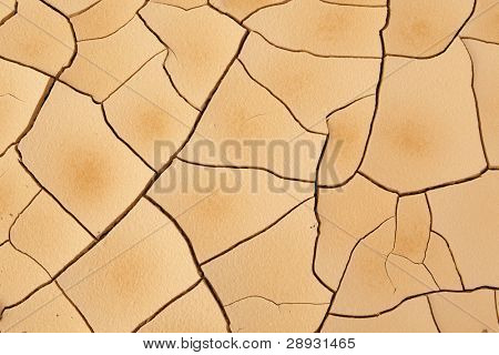 Cracked and Arid Mud Ground Dry without water