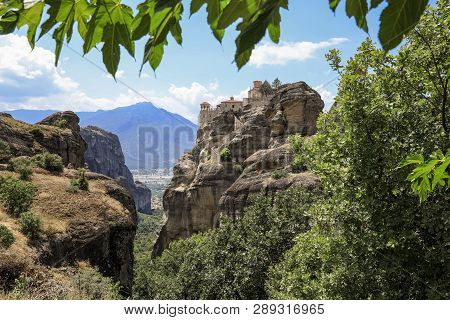 Summer Day The Monastery Of Varlaam In The Meteora Eastern Orthodox Monasteries Complex In Kalabaka,