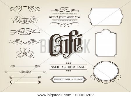Calligraphy Cafe Set