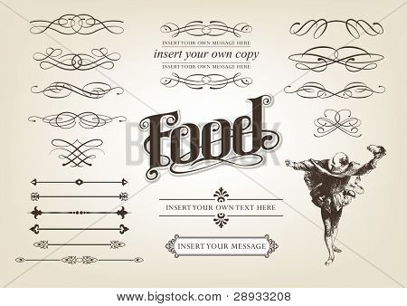 Calligraphy Food Set