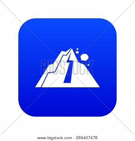 Rockfall Icon Digital Blue For Any Design Isolated On White Vector Illustration
