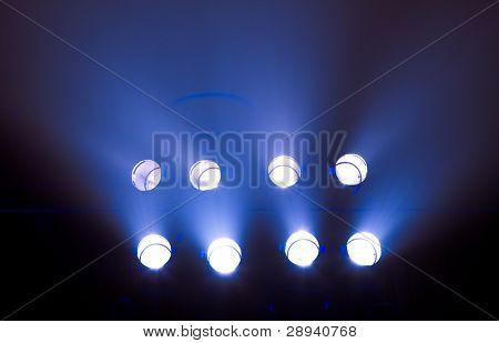 rij van fase verlichting