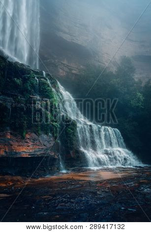 The Waterfalls Are Roaring With Power And Shrouded In Mystique Under The Mist And Fog That Envelops