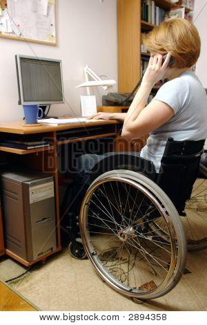 Active Wheelchair Woman