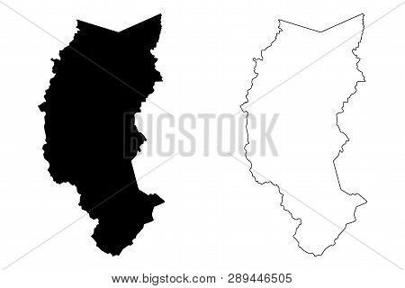 Department Of Puno (republic Of Peru, Regions Of Peru) Map Vector Illustration, Scribble Sketch Puno