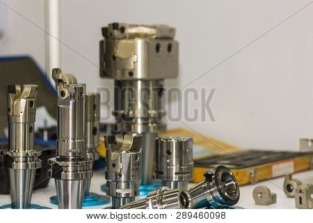 Many Kind Of High Precision Cutting Tool (carbide Tip Cutter) Set Up In Holder For Cnc Milling Or Ma
