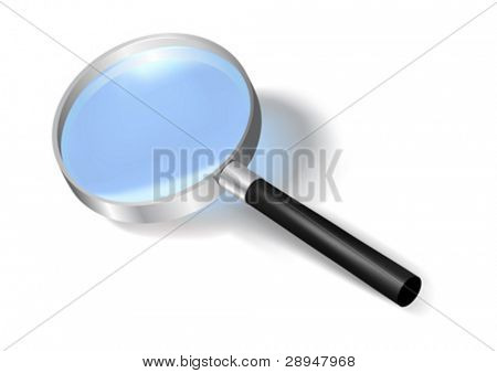 Vector illustration of a magnifying glass