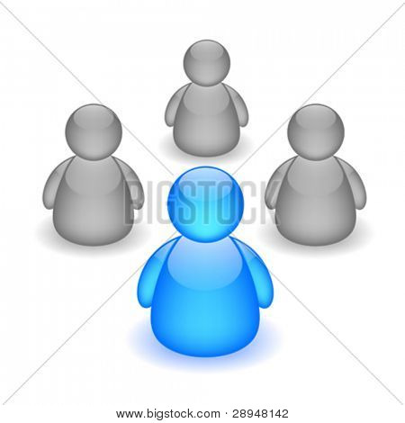 Vector illustration of discussion board icon