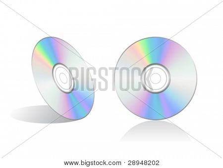 Vector illustration of a compact disc