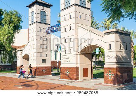 Boccardo Gate At San Diego State University