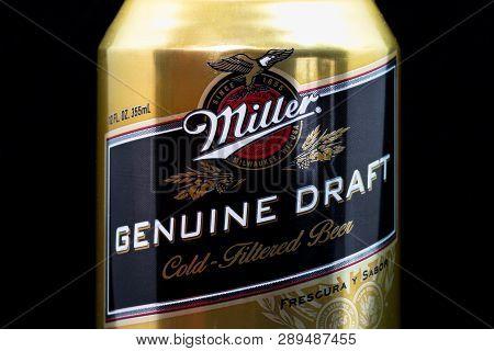 Miller Genuine Draft Beer And Trademark Logo