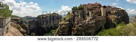 The Monastery Of Great Meteoron Is The Largest Monastery At Meteora Eastern Orthodox Monasteries Com