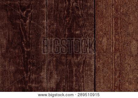 Red Wooden Boards In Vintage Style.  Brown Wooden Table. Old Wall Wooden Vintage Floor. Design Conce