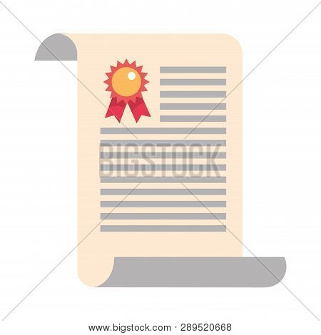 Study Element Certificate Diploma Cartoon Vector Illustration Graphic Design