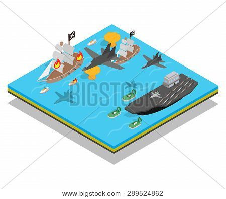 Buccaneer Concept Banner. Isometric Banner Of Buccaneer Vector Concept For Web, Giftcard And Postcar