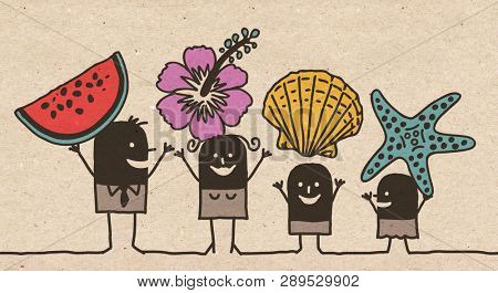Black Cartoon Family - Summer Picking