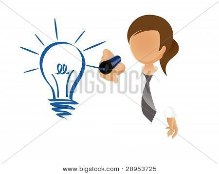 woman with idea