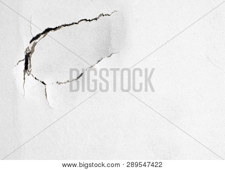 Dent And A Crack In The Wall Background