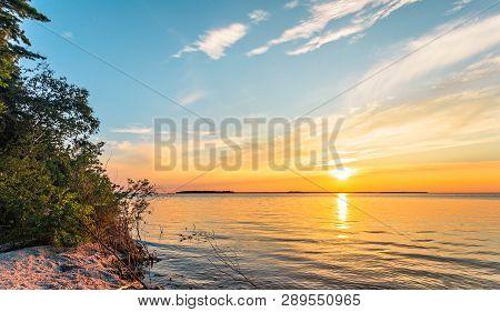 Sunset On Lake Michigan At Peninsula State Park